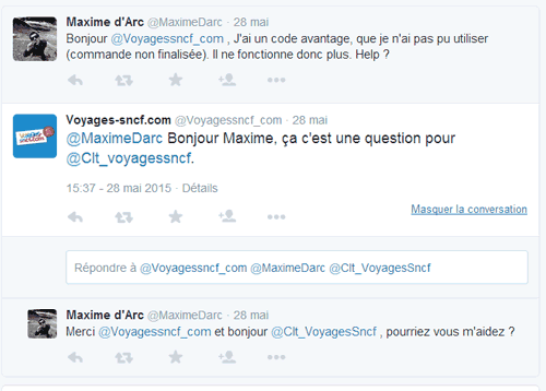 Voyages SNCF Twitter