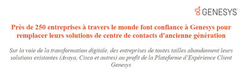 Genesys Cisco Avaya
