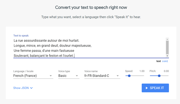 CLOUD TEXT-TO-SPEECH